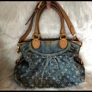 Louis Vuitton Neo Cabby Denim MM handbag purse